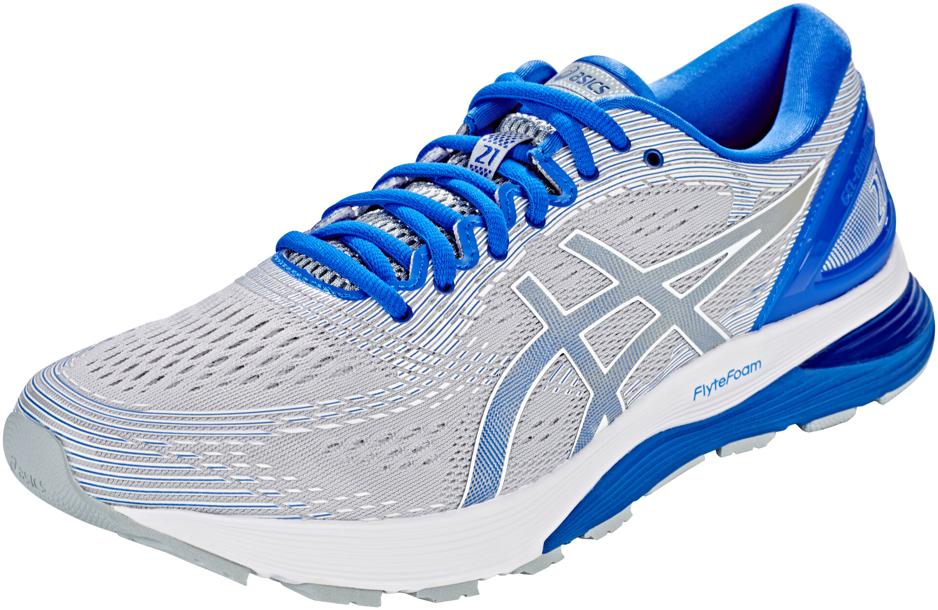asics Gel-Nimbus 21 Lite-Show Shoes Herren mid grey/illusion blue